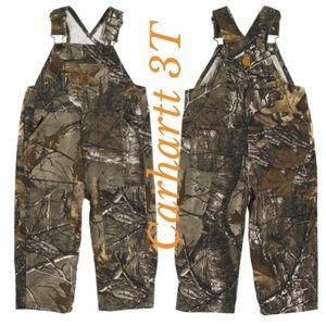 NEW Boys Size 3T Carhartt Realtree CAMO Overalls